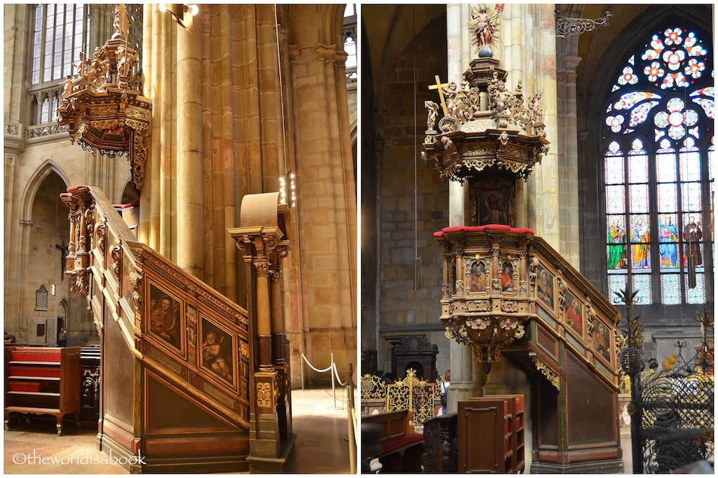 St Vitus Cathedral pulpits