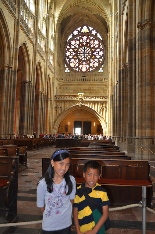 St Vitus cathedral with kids