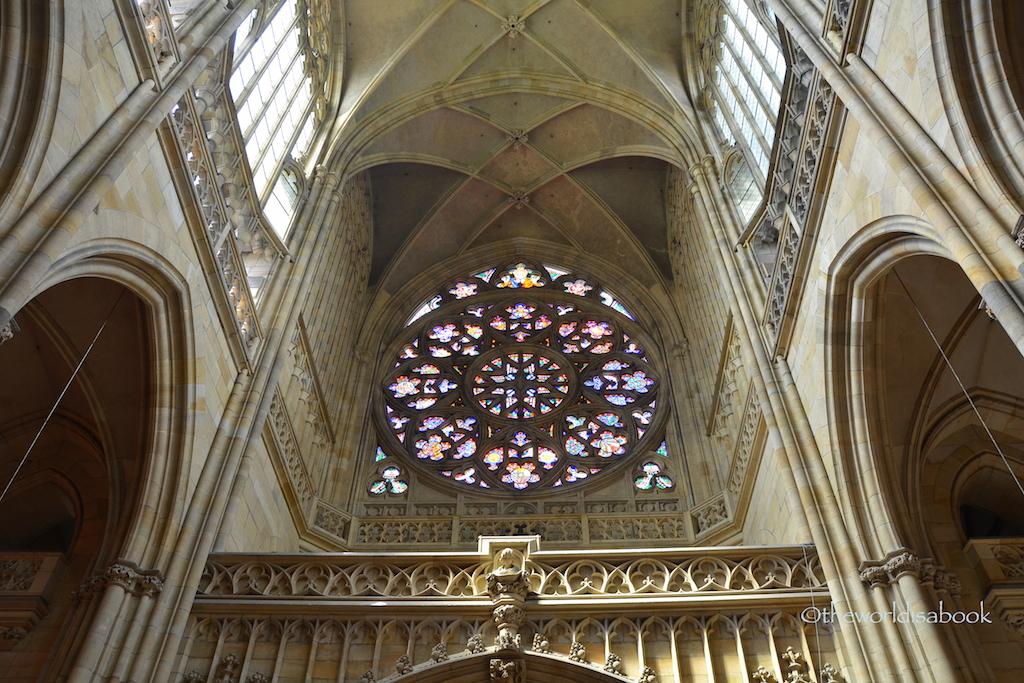 St Vitus rose window