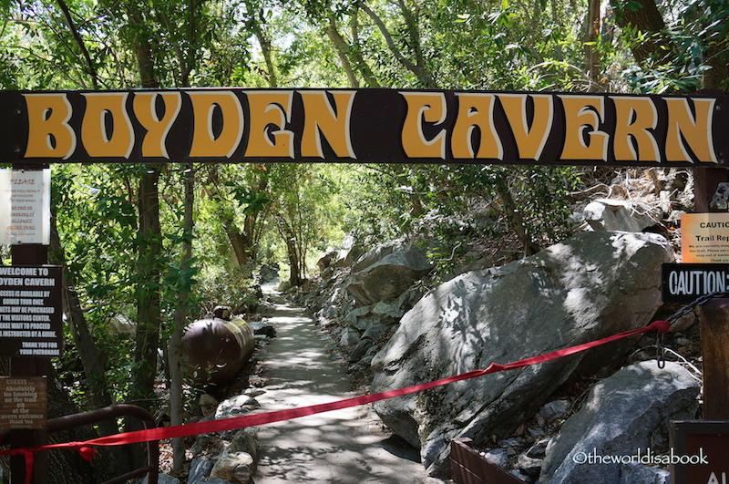 Boyden Cavern sign