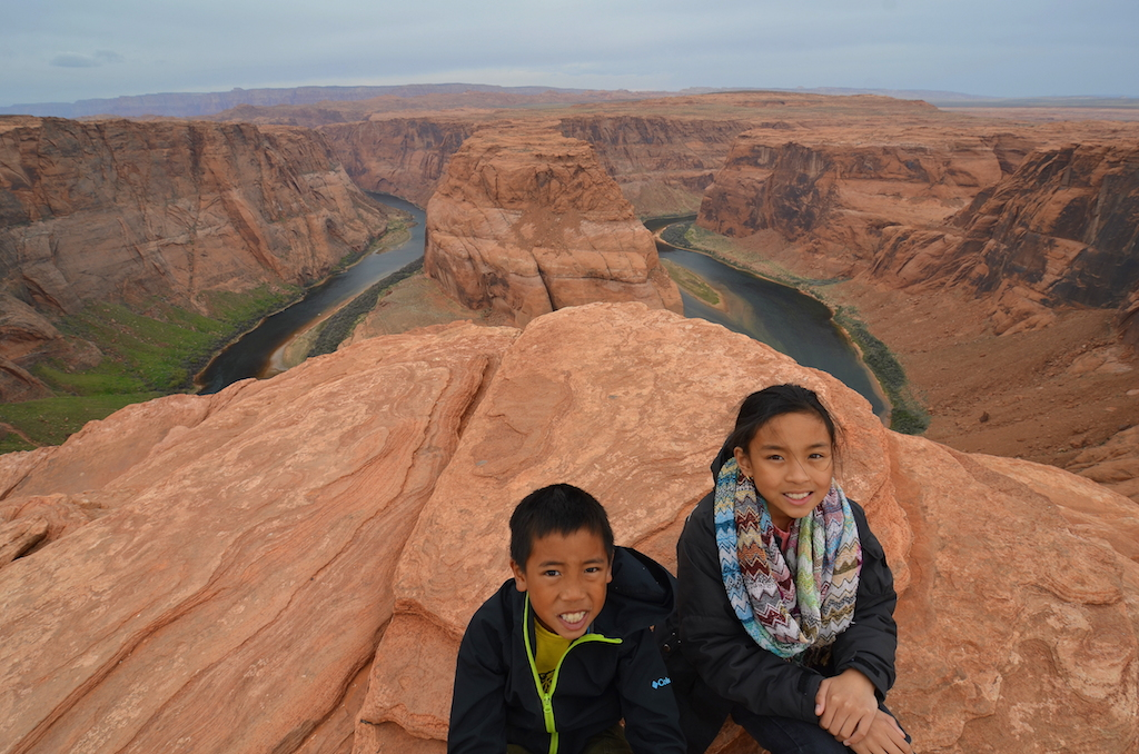 Horseshoe Bend with kids