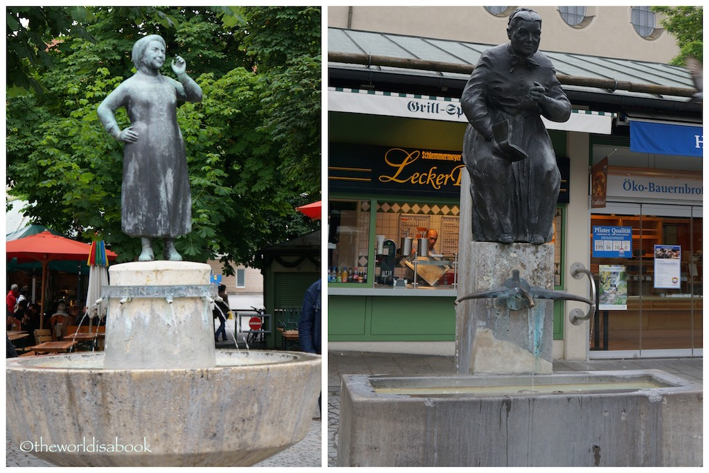 Viktualienmarkt fountain memorials