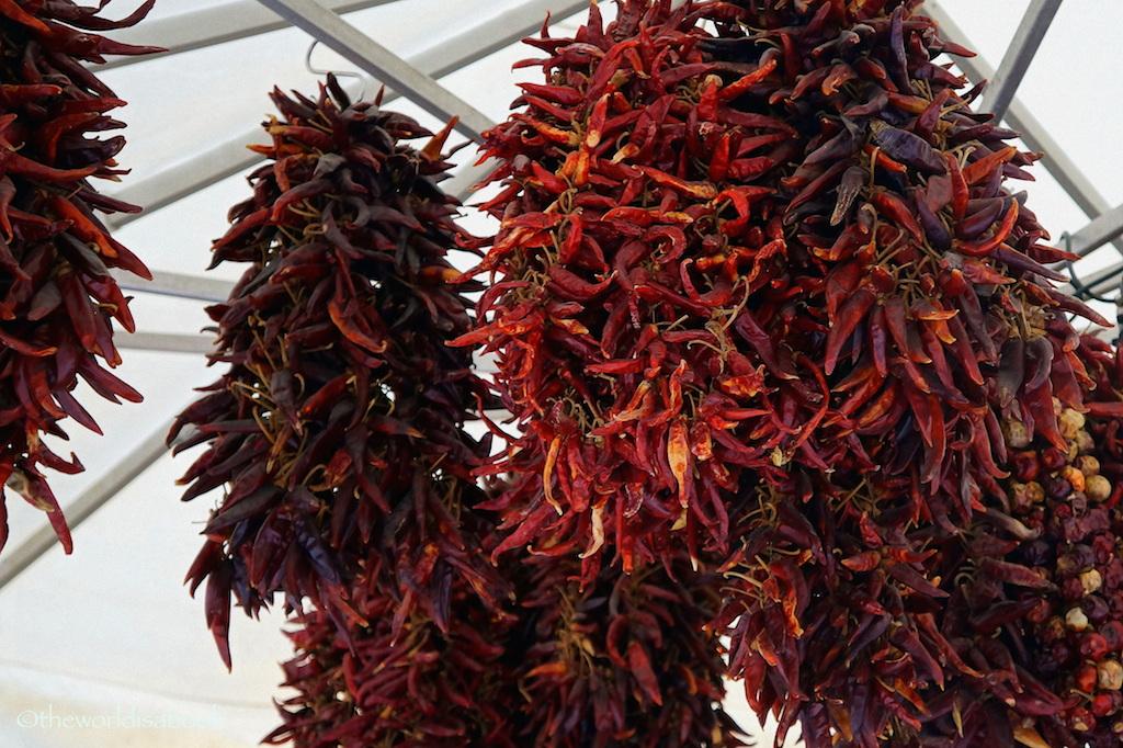 Viktualienmarkt peppers ristras