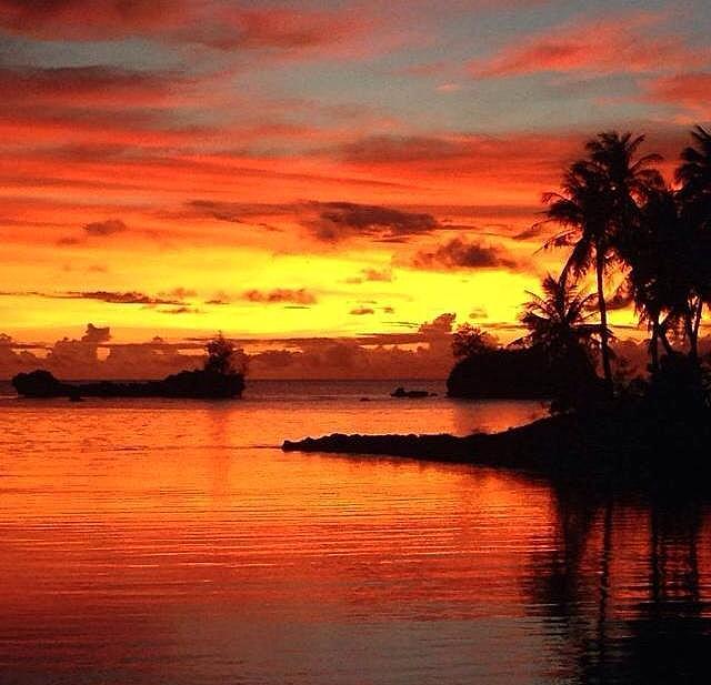 Guam agat sunset