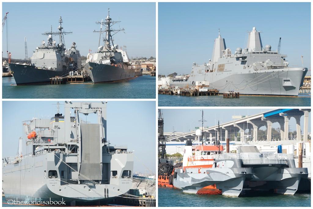 San Diego military ships