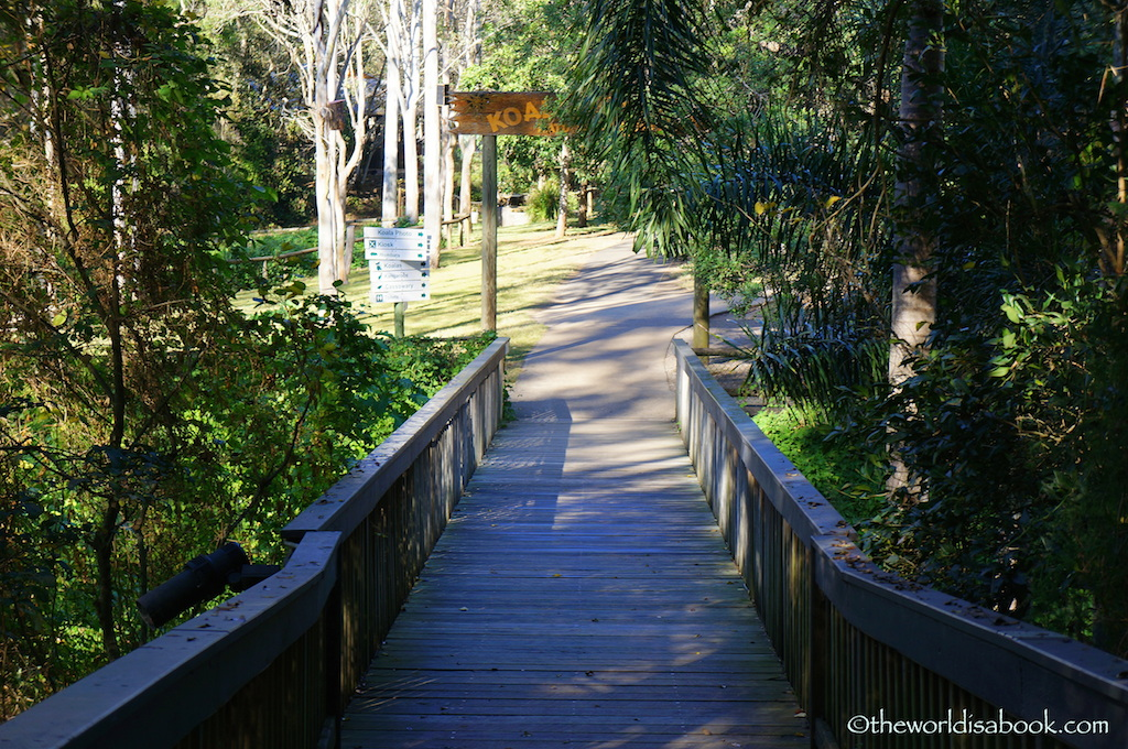 Lone Pine Koala sanctuary bridge