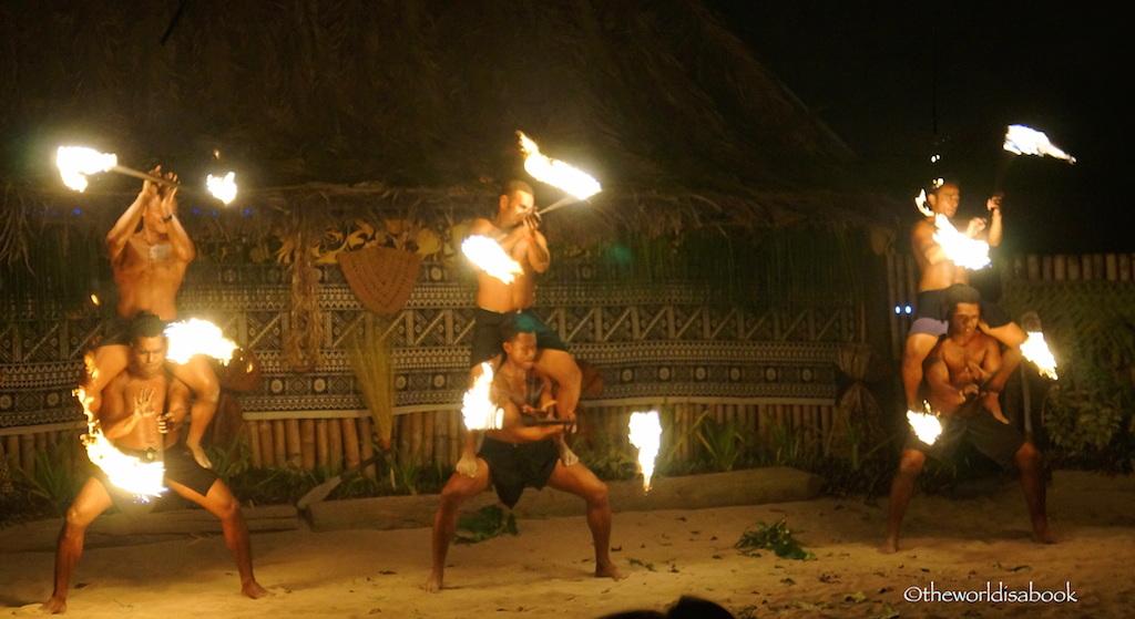 Robinson Crusoe Island fire dancers