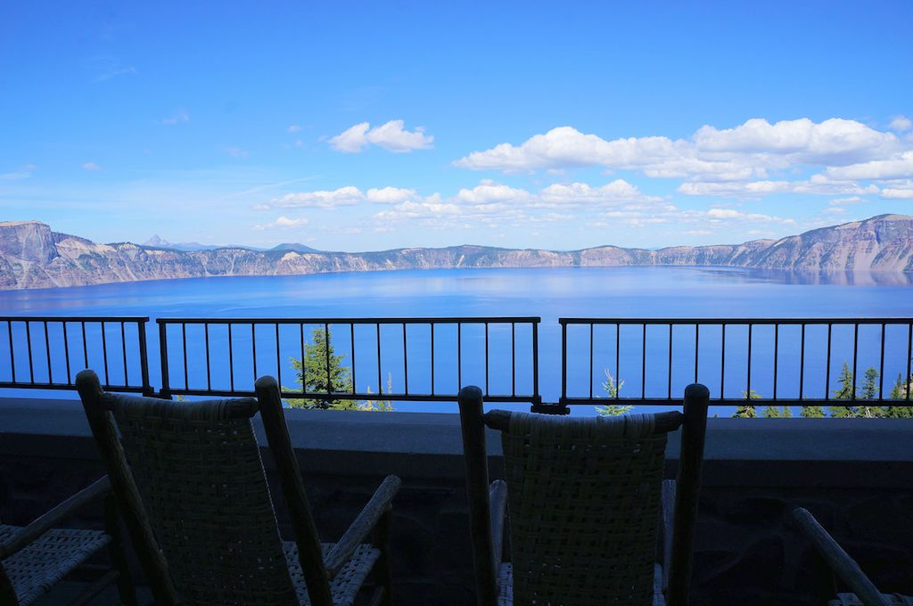Crater Lake Lodge veranda