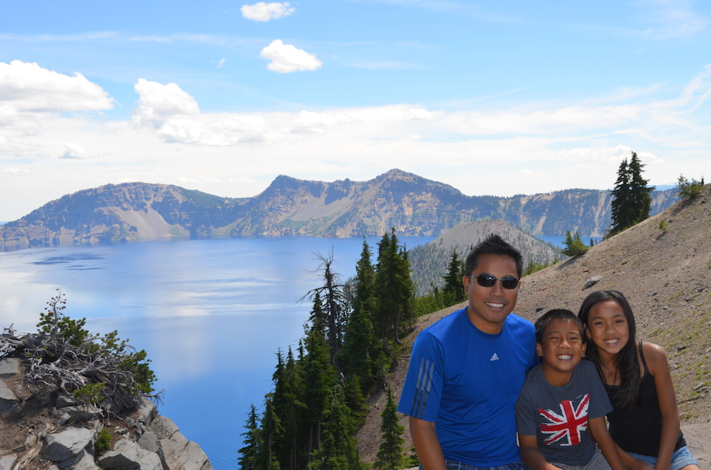 Crater Lake National Park with kids