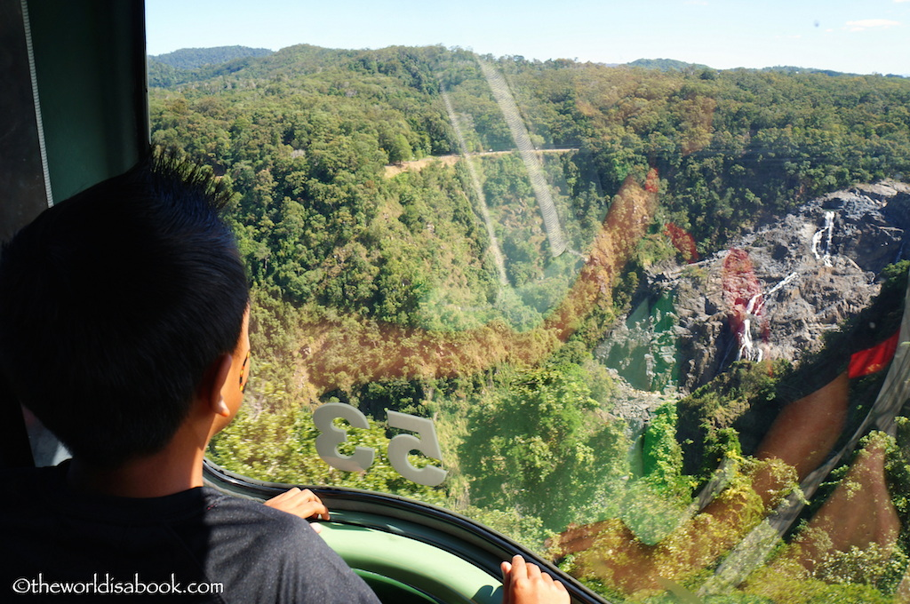Skyrail Rainforest Cableway with kids