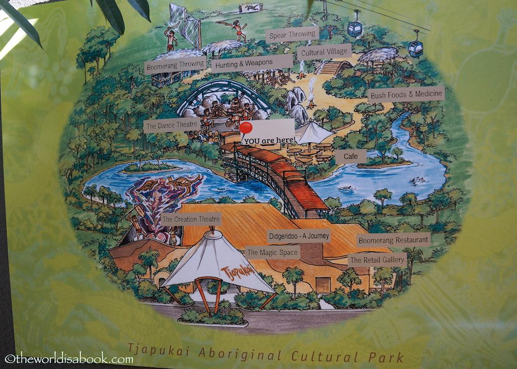 Tjapukai Aboriginal Cultural Park map