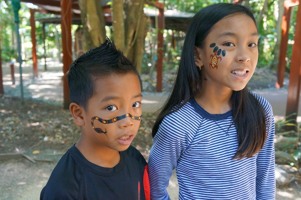 Tjapukai Aboriginal Park face painting copy