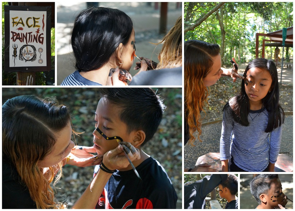 Tjapukai Aboriginal Park face painting