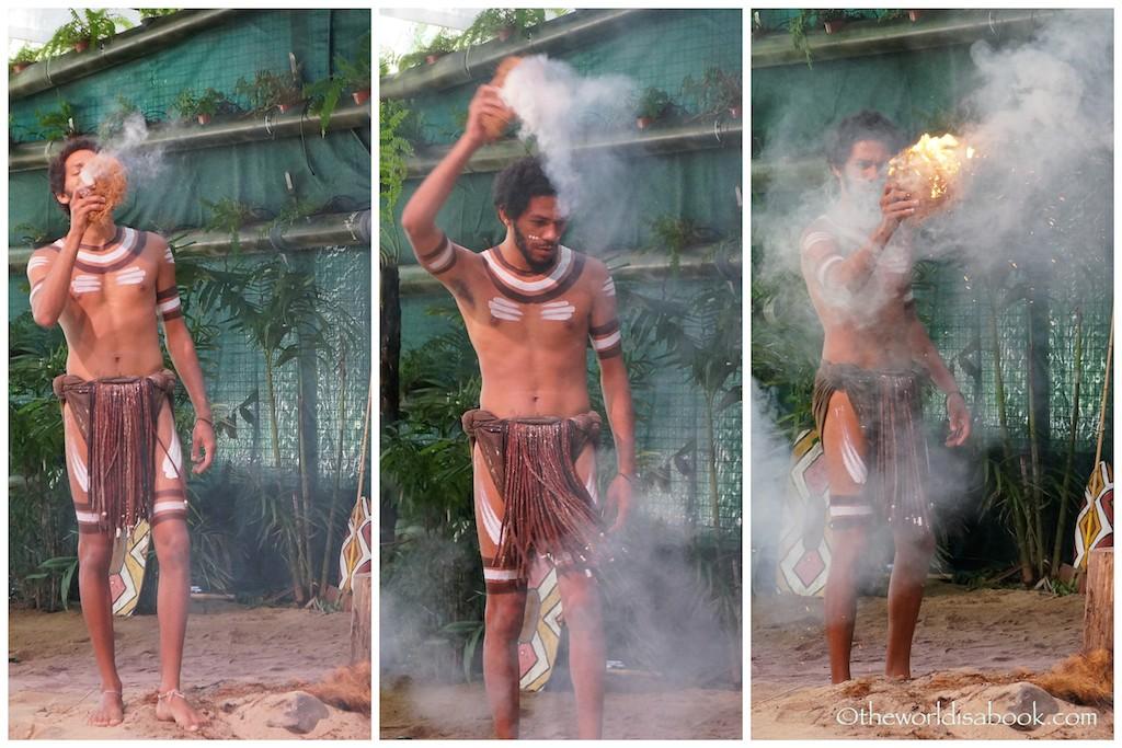 Tjapukai Aboriginal Park fire