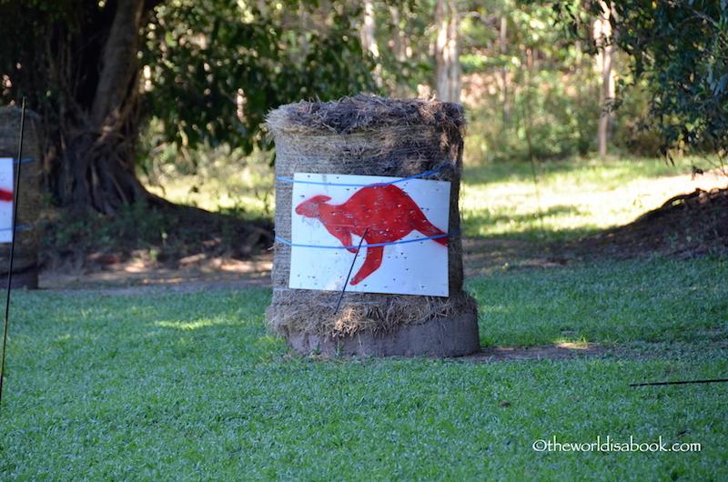 Tjapukai Aboriginal Park kangaroo target