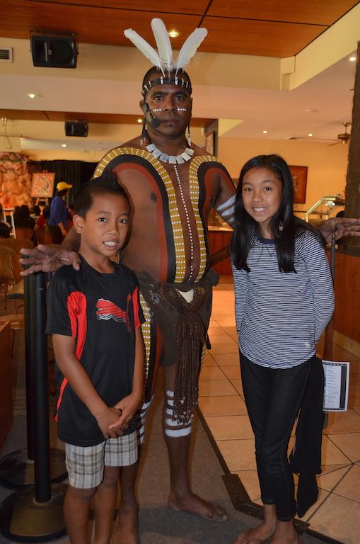 Tjapukai Aboriginal park dancer
