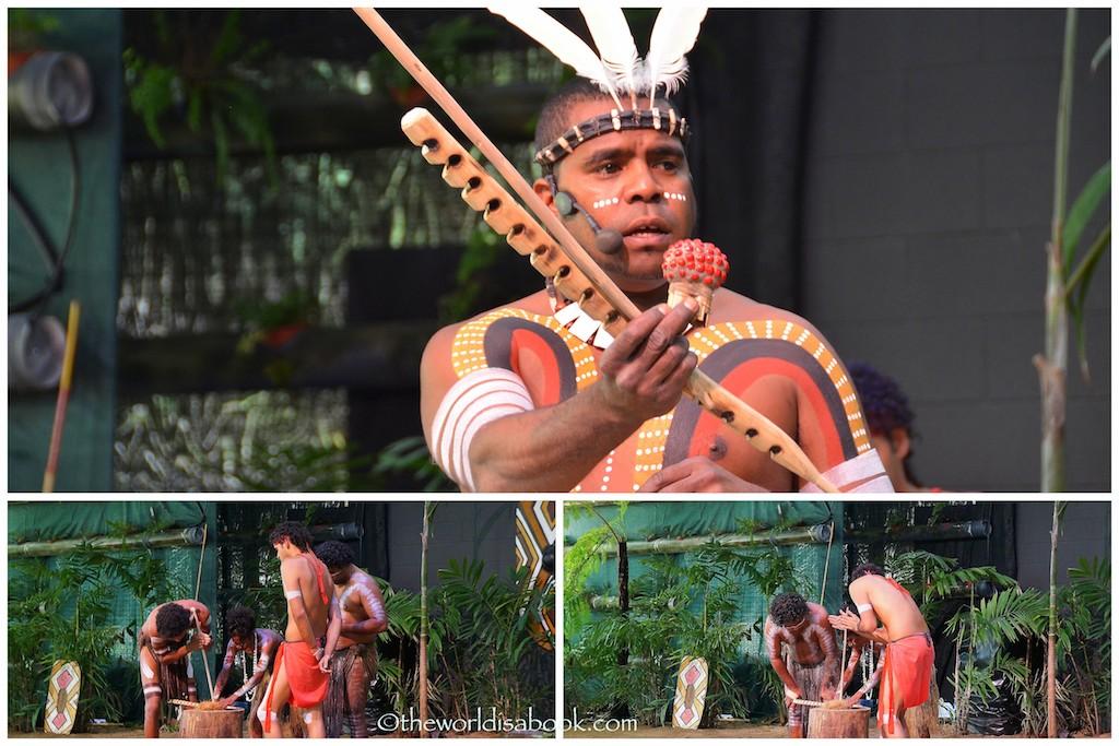 Tjapukai Aboriginal park fire making
