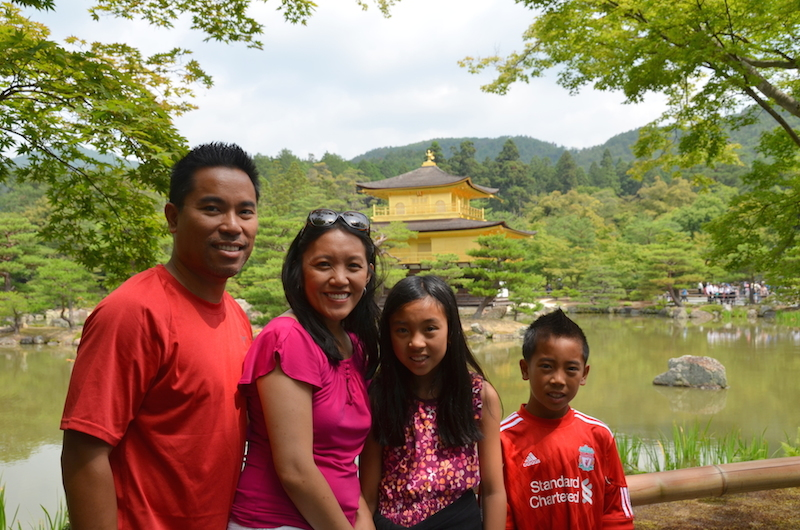 Golden pavilion Kyoto with kids