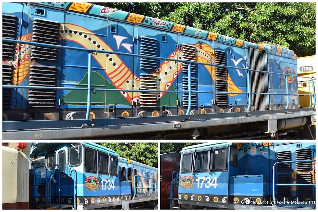 Kuranda Railway painted train