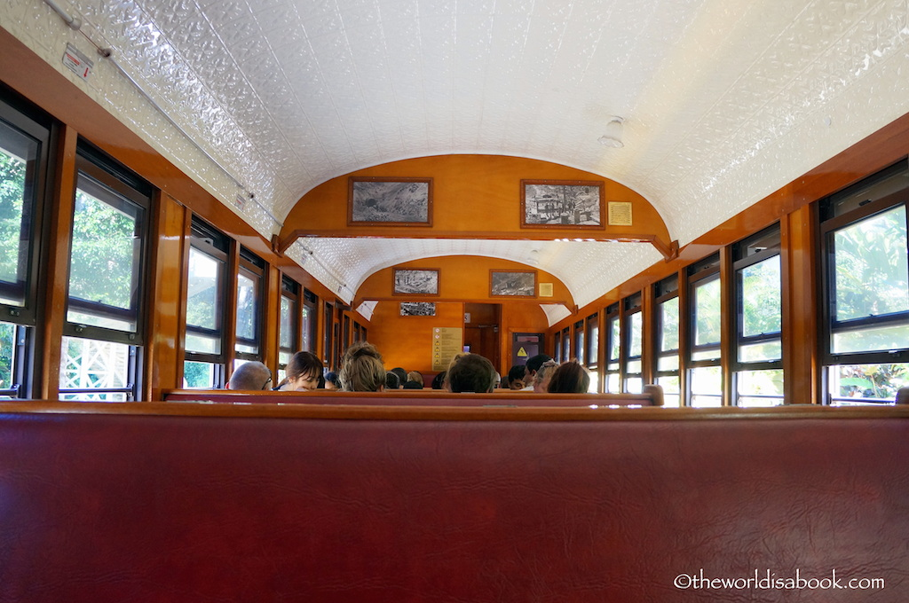 Kuranda scenic railway interior