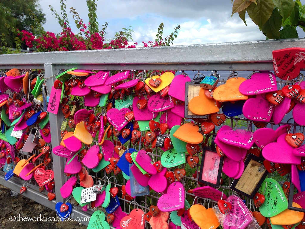 Two Lovers Point love locks Guam
