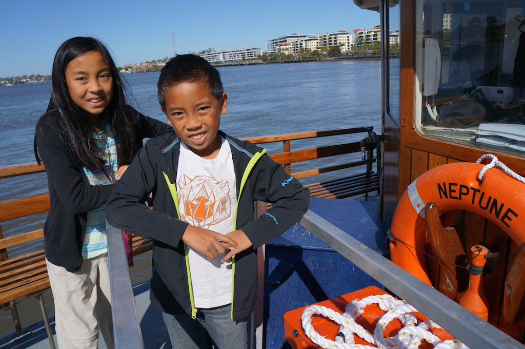 Brisbane City River Cruises with kids