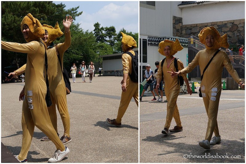 Nagoya Castle golden dolphin men