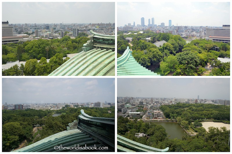 Nagoya Castle observation tower views