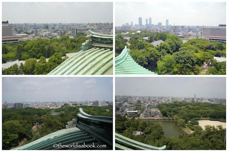 Nagoya Castle observation tower views