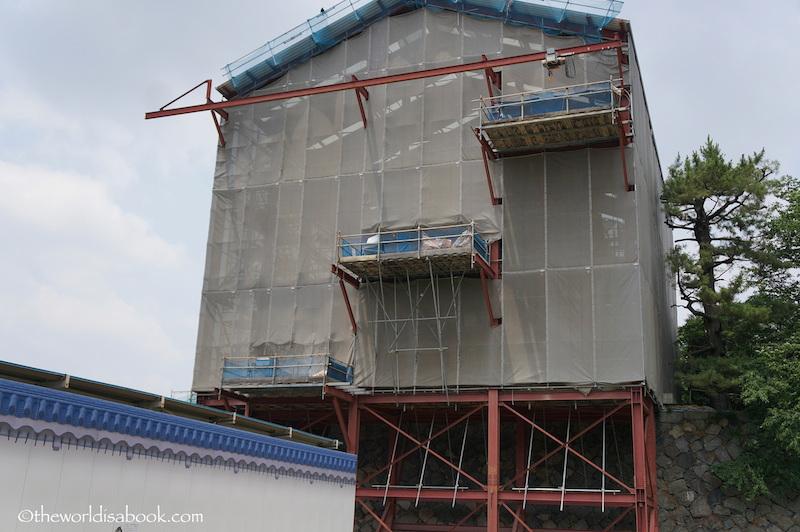 Nagoya castle palace construction