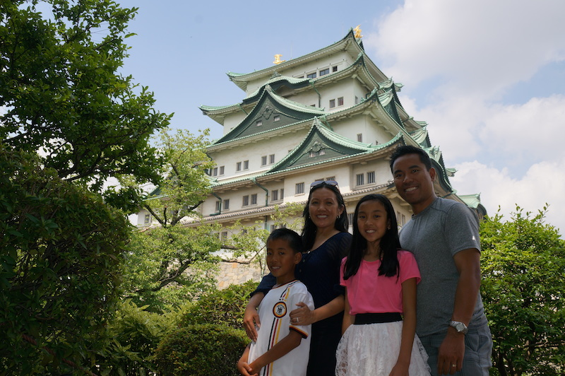 Nagoya castle with kids