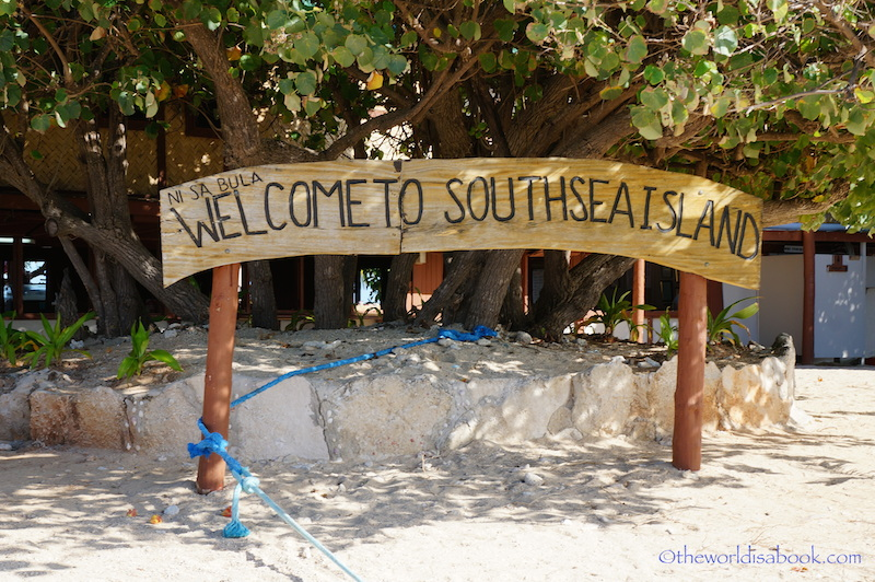 South Sea Island Fiji sign