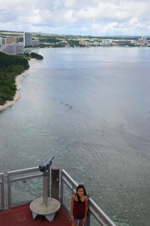 Two Lovers Point Guam with kids