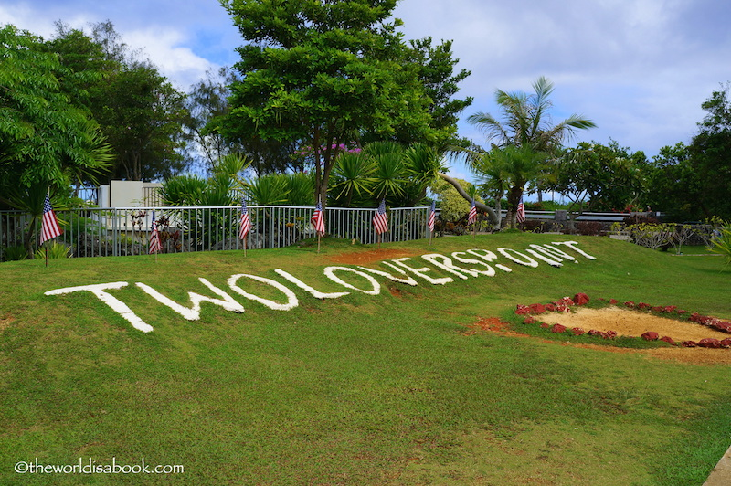 Two lovers point guam sign