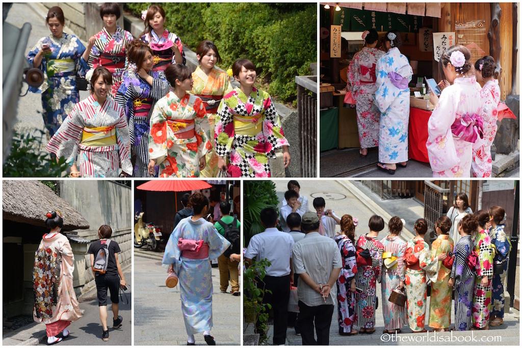 Higashiyama girls in kimono Kyoto