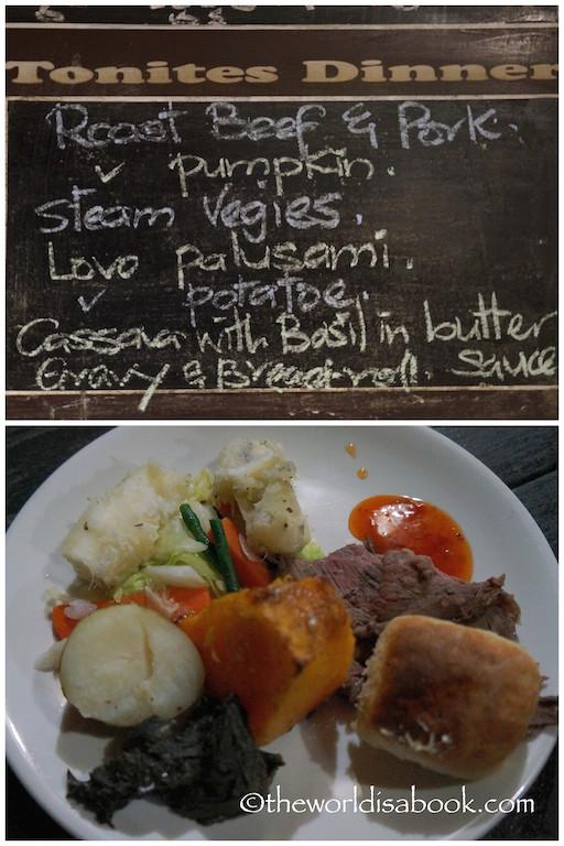 Robinson Crusoe Island Fiji food