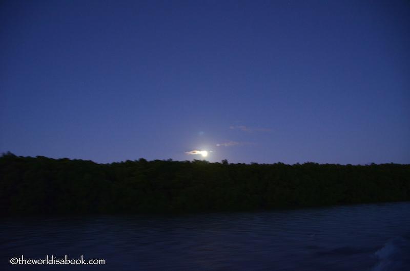 Robinson Crusoe Island Fiji moon