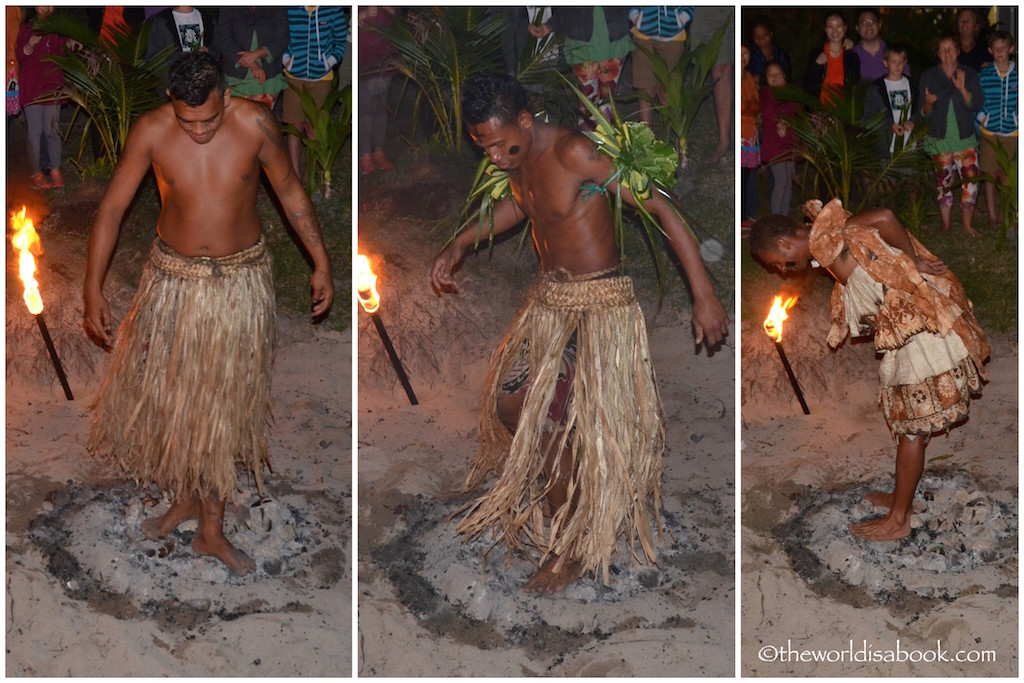 Robinson Crusoe Island fire walking