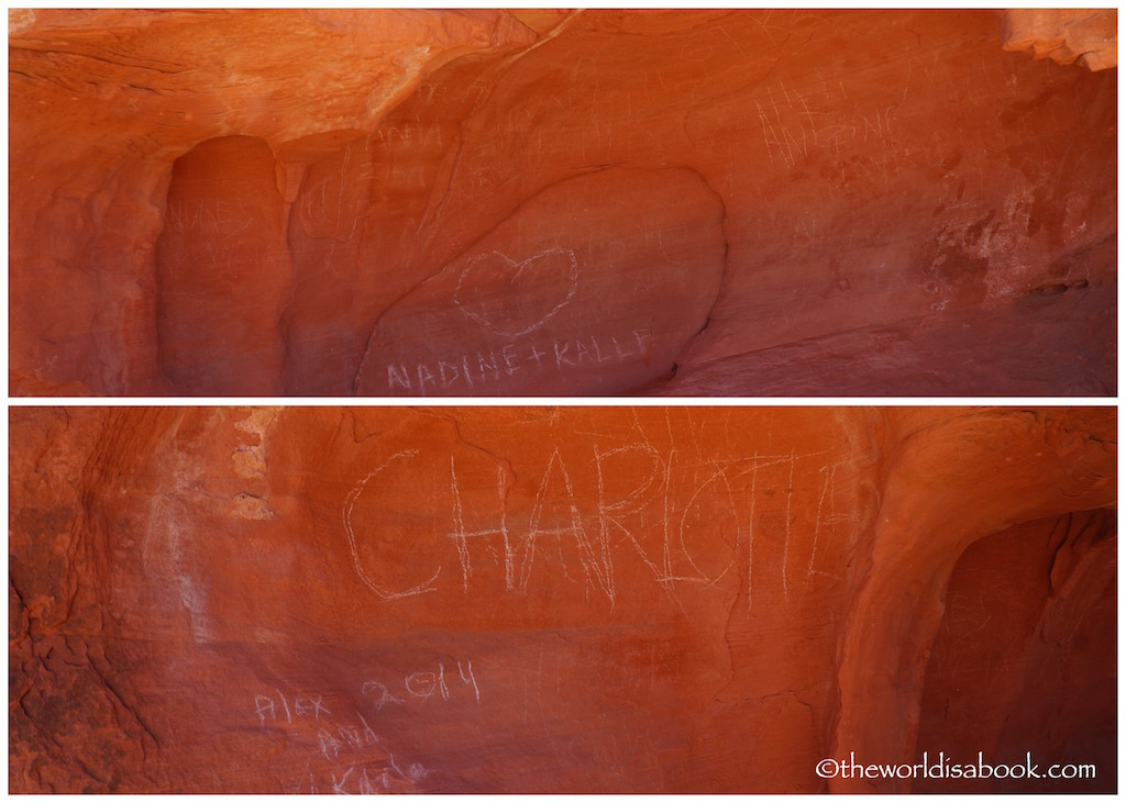 Valley of Fire State Park graffiti