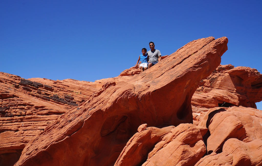 Valley of Fire State Park with kids