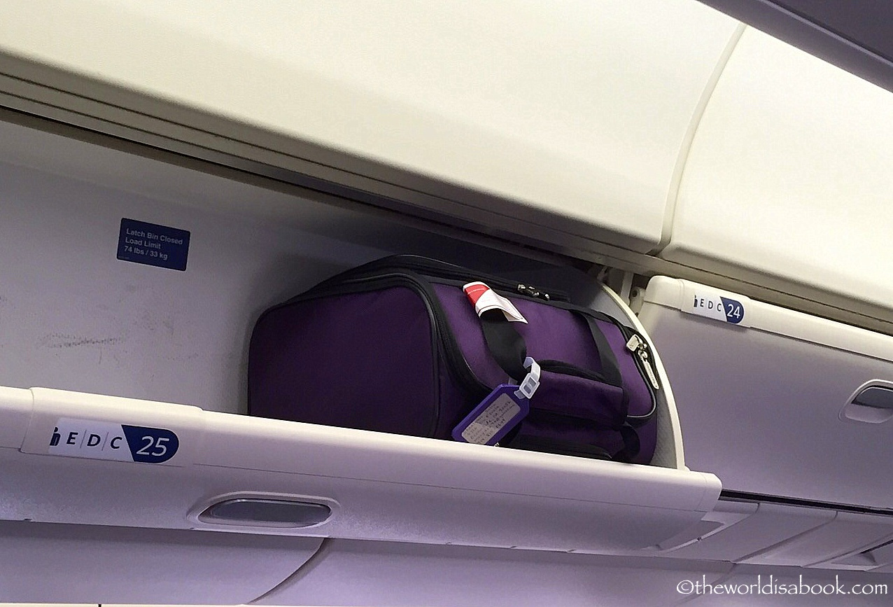 Travelon carryon middle seat