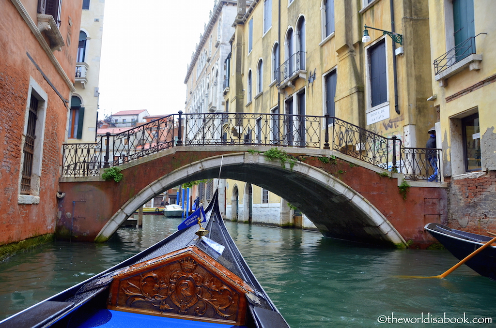 Venice gondola ride bridge