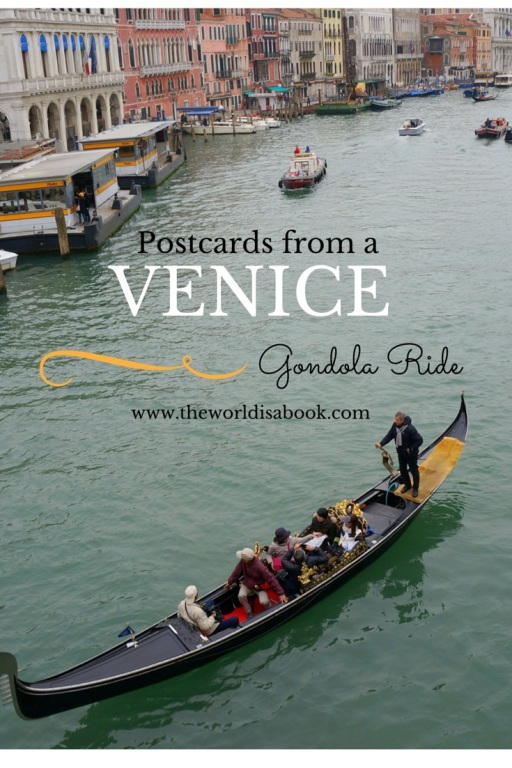 Venice gondola ride with kids