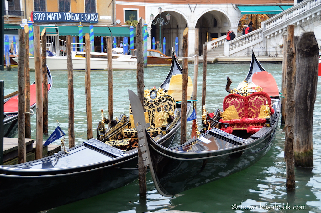 Venice ornate gondolas