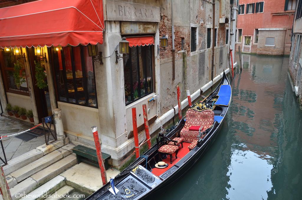 Venice parked gondola