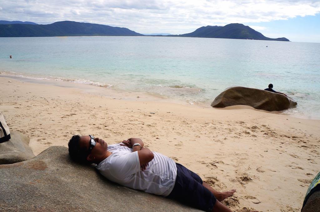 Fitzroy Island sleeping