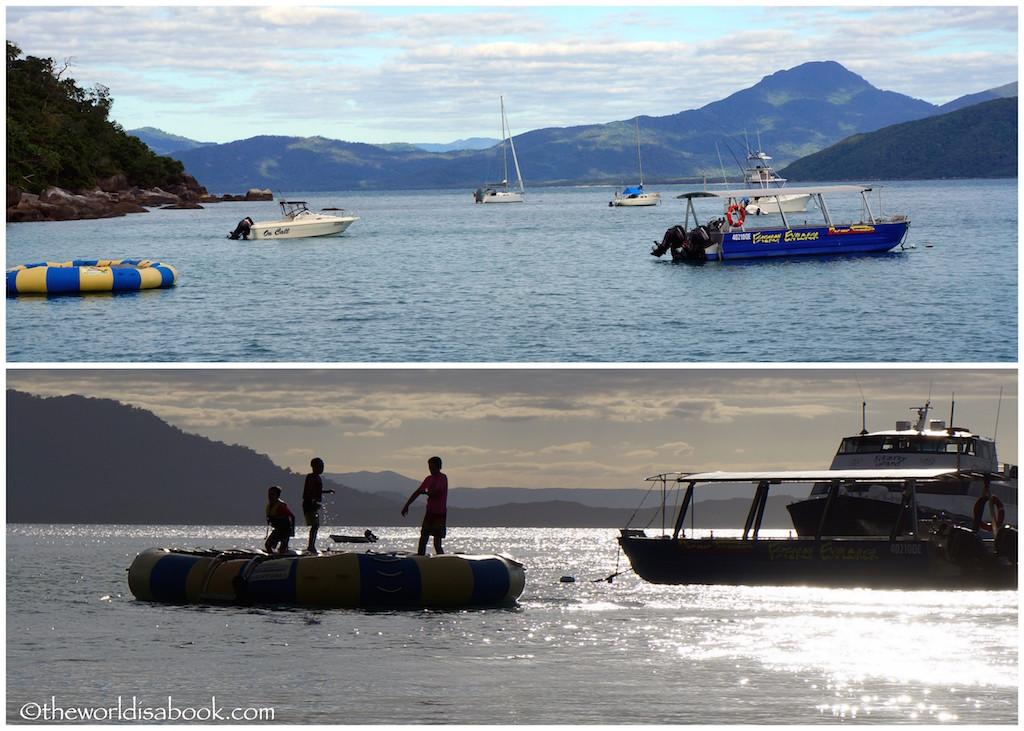 Fitzroy Island water trampoline