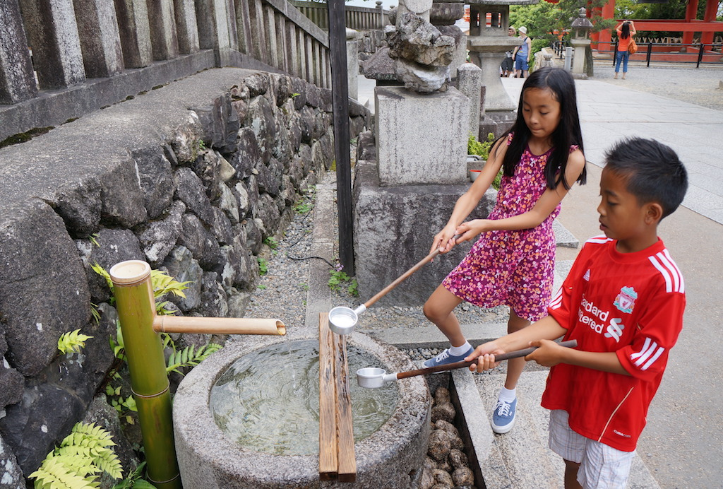 Kiyomizudera Kyoto with kids