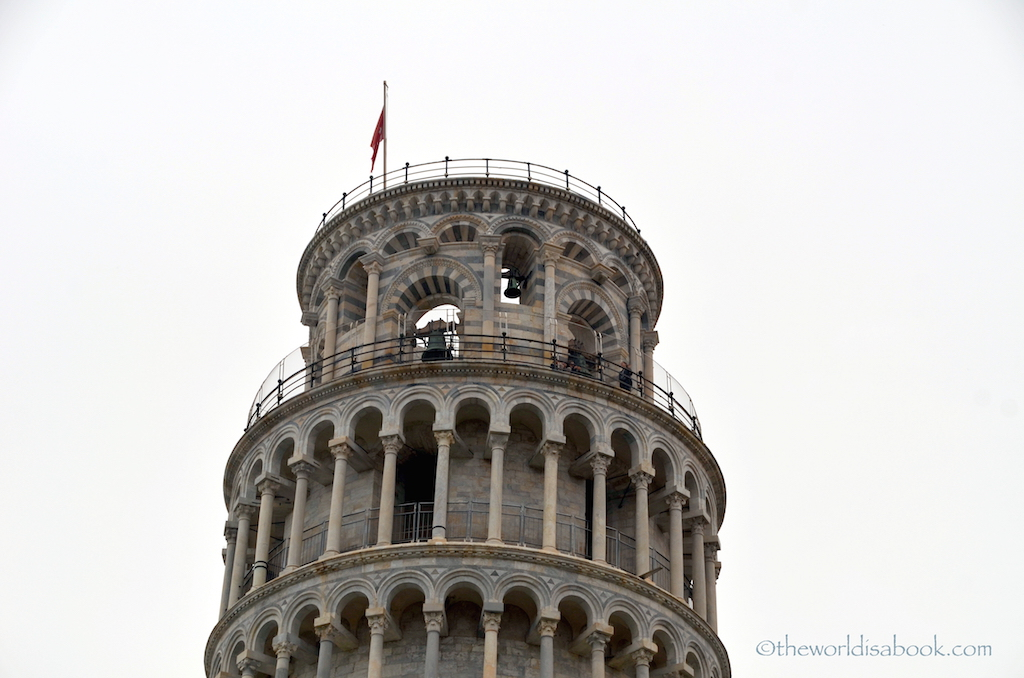Leaning tower of pisa viewing deck