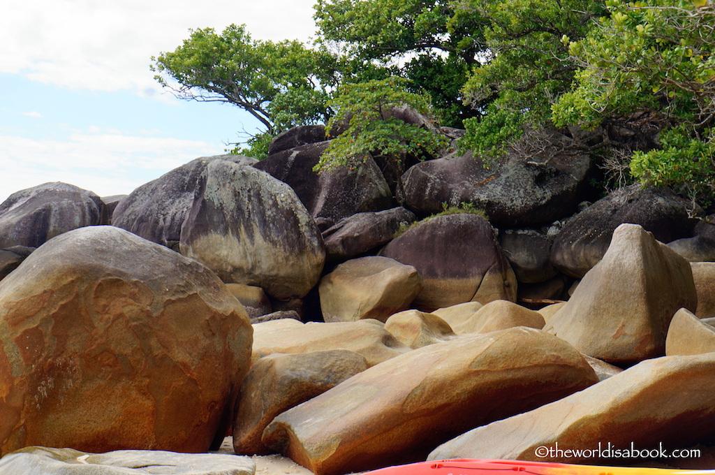 Nudey Beach rocks Fitzroy Island